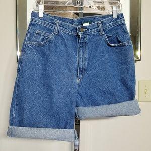Vintage High Waist Denim Shorts Size 12